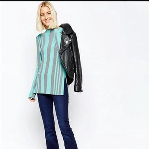 NWT ASOS high neck Tunic sweater with side slits