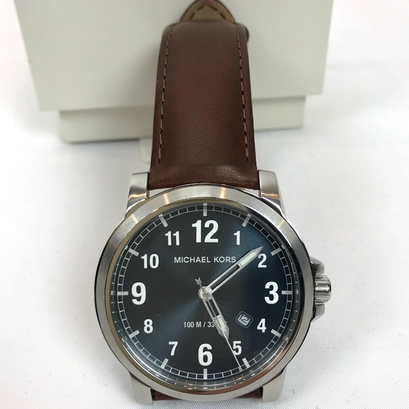 fae820f866ba Michael Kors Men s Watch Paxton Brown Leather