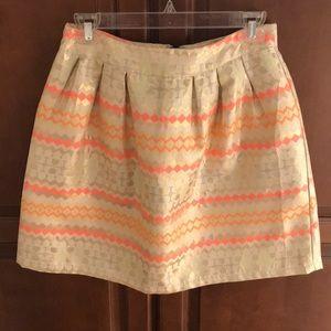 Bright geometric skirt