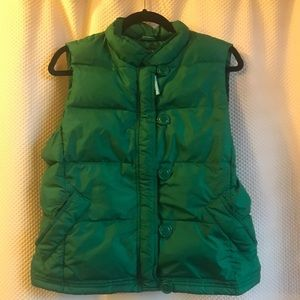J crew green vest large