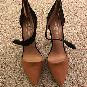 Jeffrey Campbell Suede/leather Color Block Heels