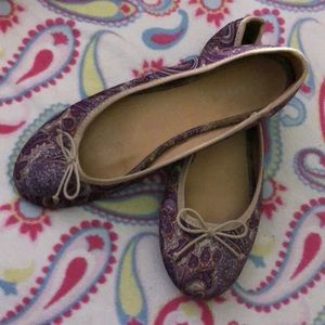 Old Navy purple paisley print flats