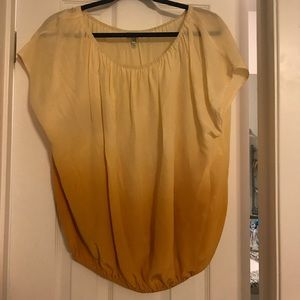 Joie Ombre Yellow Blouse