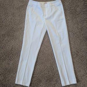 Merona White Textured Ankle Pants Size 2