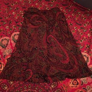 • Vintage Paisley Skirt •