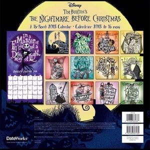 disney other nightmare before christmas calendar 2018