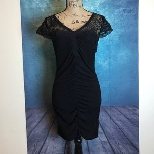 Free People Black Body con Lace Dress Party