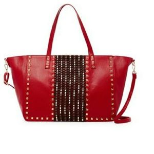 Oversized Studded Tote