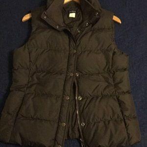 J. Crew puffer vest, brown
