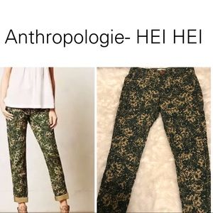 Anthropologie Hei Hei Floral Pants- 28