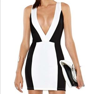 NWT Nasty Gal black/white color block dress