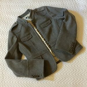 J Crew Gray Wool Military Jacket