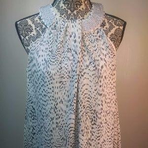 Alfani blouse size petite large black white