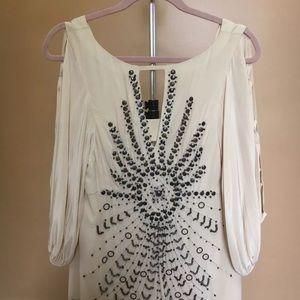 Nanette Lepore World Tour Silk Top Blouse Size 8