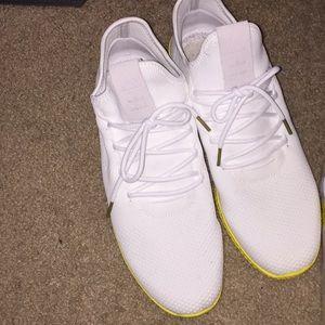 Sz 13- Pharrell Hu Tennis White/Yellow