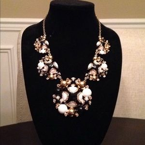 Kate Spade Black/White/Gold Statement Necklace