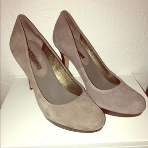 Banana Republic grey suede heels