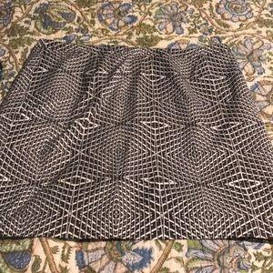 Black and white Halogen pencil skirt, 16