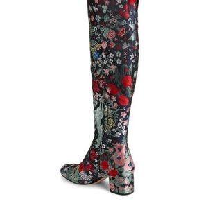 Sam Edelman Elina Floral Jacquard OTK Boots New