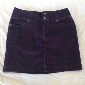 "Athleta Purple ""Corduroy"" skirt size 6"