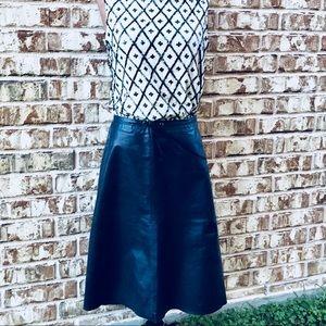 Banana Republic 100% Genuine Leather Midi Skirt