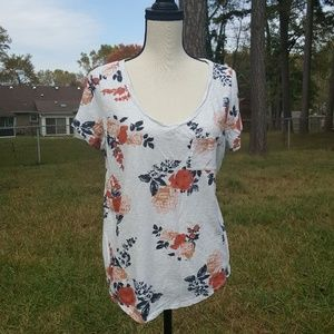 Torrid Floral Pocket Short Sleeve T- Shirt Size L