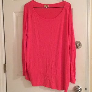 Pink long sleeve Piko