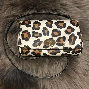 COACH Ruby Ocelot Crossbody/Shoulder/Clutch Bag