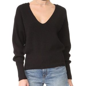 Free People Black Allure Sweater