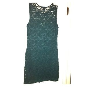 Sexy teal lace dress