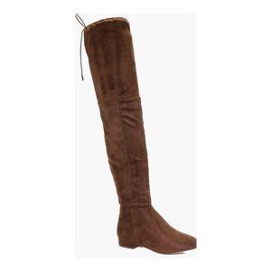 Mocha thigh high boots