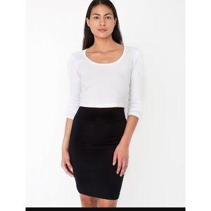 American Apparel Ribbed High Waisted Mini Skirt