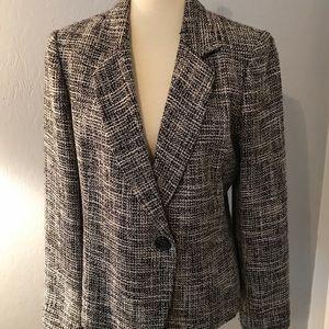 Emma James Black and White  tweed Jacket size 14