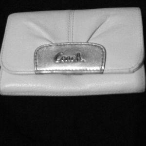 Coach White wallet