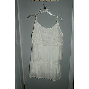White shoulderless dress