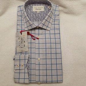Men's Ted Baker dress shirt NWT .. 15.5 2/3