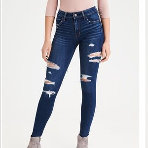 AE high waisted ripped jeans