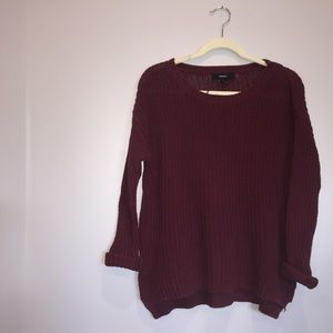 Forever 21 Maroon knit sweater for s/m