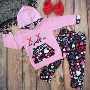 Other - Boutique Girls 3pc XOXO Y'ALL 3pc Outfit