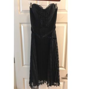 Betsey Johnson black strapless cocktail dress