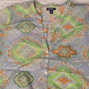 Old Navy cotton print button top