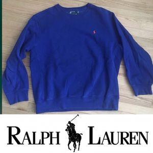 Ralph Lauren blue crew neck long sleeve hoody