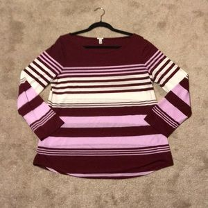 J Crew-striped long sleeve shirt size/Large