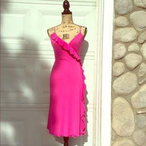 Dresses & Skirts - Hot pink wrap around dress
