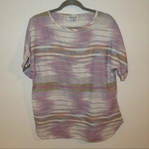 Multi colored linen t shirt
