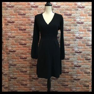 Qi Cashmere V-Neck Sweater Dress