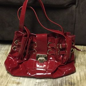 JIMMY CHO RED PURSE . PERFECT FOR A VDAY GIFT