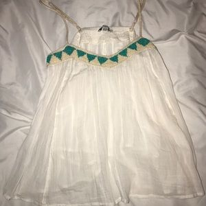 American Eagle white beaded tank top