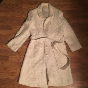 Banana republic white trench coat