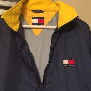 🔥90s Tommy Hilfiger lightweight pullover jacket L